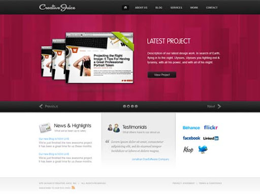 Creative+Juice Fresh Premium Wordpress Themes Designed in 2010