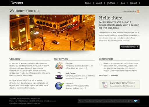 devster Fresh Premium Wordpress Themes Designed in 2010