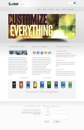 socket Fresh Premium Wordpress Themes Designed in 2010
