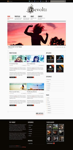 revoltz Fresh Premium Wordpress Themes Designed in 2010