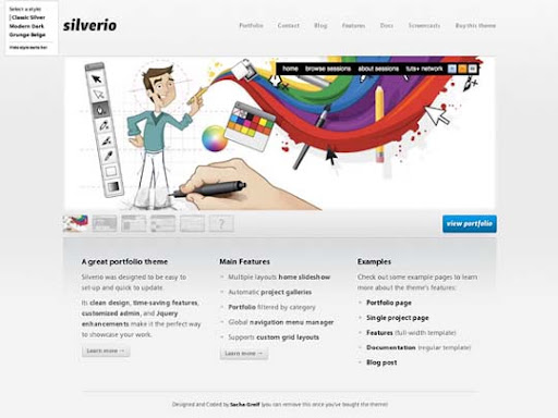 silverio Fresh Premium Wordpress Themes Designed in 2010