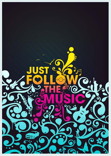 Just Follow the Music by Neochron Spectacular Examples of Typography / Text Art