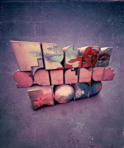 Fresh science word by Shinybinary Spectacular Examples of Typography / Text Art