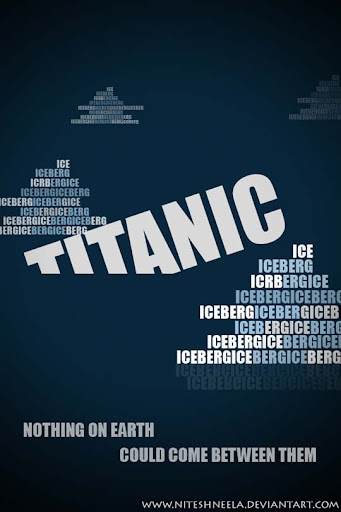 Titanic by niteshneela Spectacular Examples of Typography / Text Art