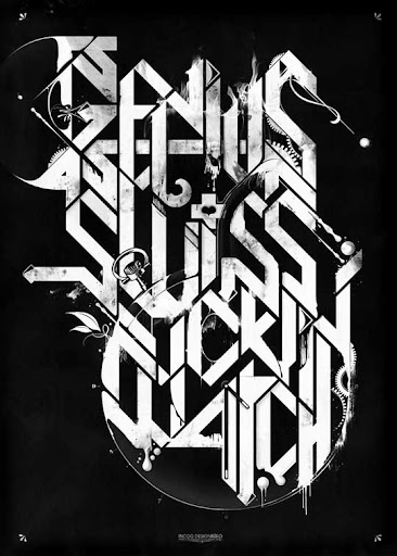 a swiss fuckin   watch by incogburo Typography Brilliance: To Make you say Wow #2