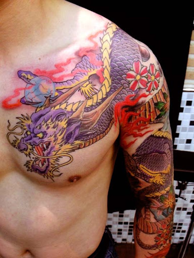 japanese dragon front by mojoncio Incredible Tattoo Designs and Body Art to Inspire You