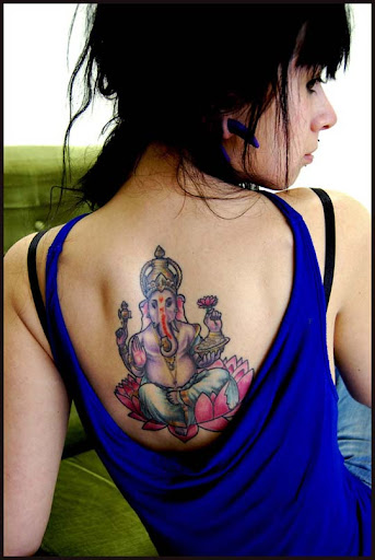 Ganesh tattoo by cencored Incredible Tattoo Designs and Body Art to Inspire You