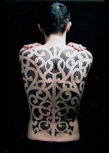 maori backpiece by nakedarttattoo Incredible Tattoo Designs and Body Art to Inspire You