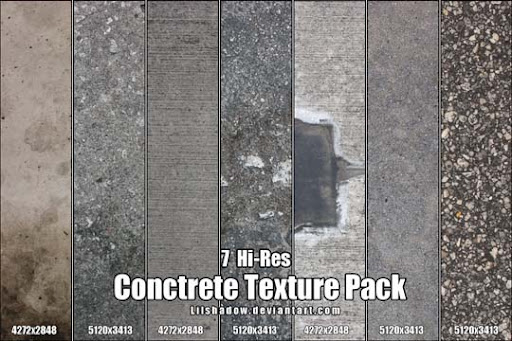 Hi Res Concrete Texture Pack by Lilshadow 15+ Useful Concrete Texture Packs for Designers