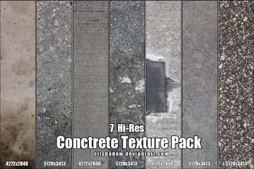 Hi Res Concrete Texture Pack by Lilshadow 15+ Useful Concrete Texture Packs for Designers
