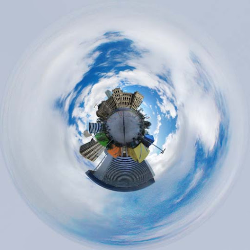 Planet Brisbane Square by inexistentia Mesmerising Planet Panoramic Photography