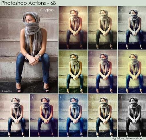 photoshop actions   68 by night fate The Ultimate Collection Of 500+ Useful Free Photoshop Actions