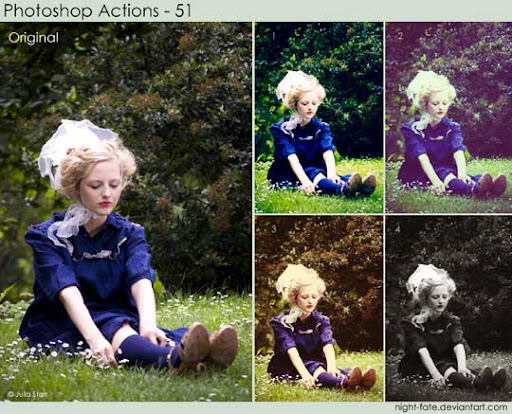 photoshop actions   51 by night fate The Ultimate Collection Of 500+ Useful Free Photoshop Actions