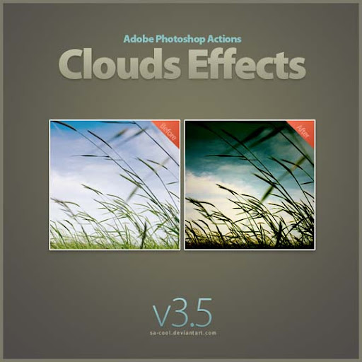 Clouds Effects 3 5 by sa cool The Ultimate Collection Of 500+ Useful Free Photoshop Actions