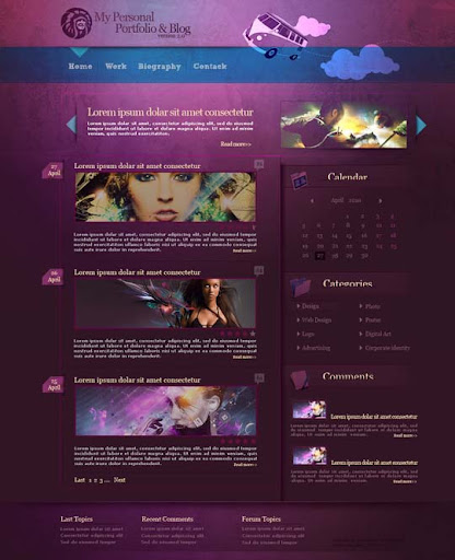 Personal Portfolio Blog by omeruysal 40 Gorgeous Portfolio Web Interface Designs You Must See