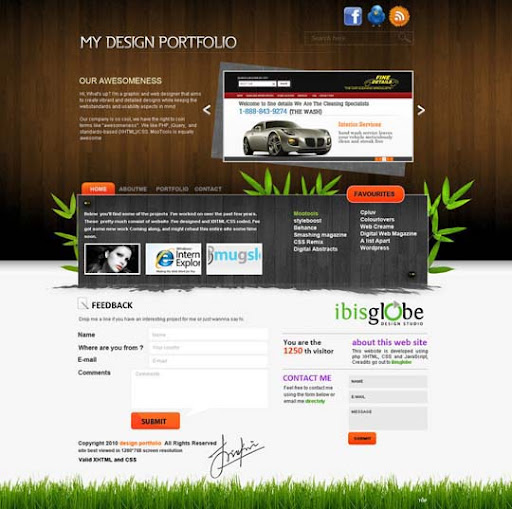 my portfolio by jinukumar 40 Gorgeous Portfolio Web Interface Designs You Must See