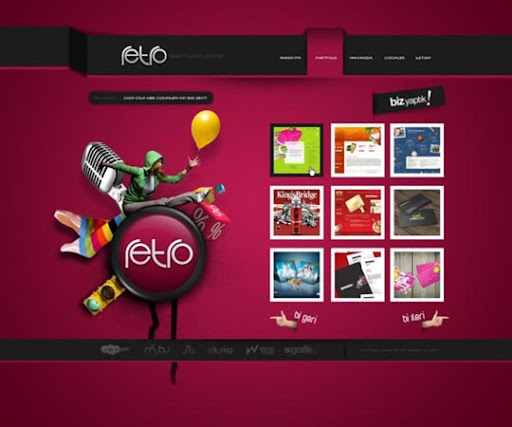 retro+portfolio+by+%3DSencerBugrahan 40 Gorgeous Portfolio Web Interface Designs You Must See