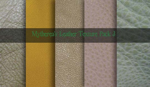 Leather Texture Pack 3 by Mytherea Design Resource: Free Leather Texture Packs