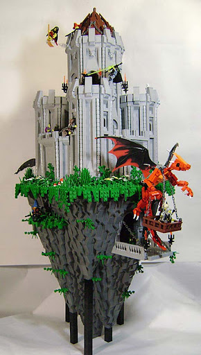 Tower+Rock 50 Incredibly Creative LEGO Creations