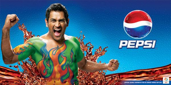 Mahendra+Singh+Dhoni+Pepsi+World+Cup+Ad+Wallpaper Adidas and Pepsi Cricket World Cup 2011 Campaign Posters