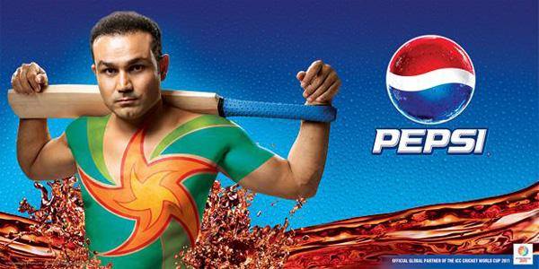 Virender+Sehwag+Cricket+2011+Pepsi+World+Cup+Ad+Wallpaper Adidas and Pepsi Cricket World Cup 2011 Campaign Posters