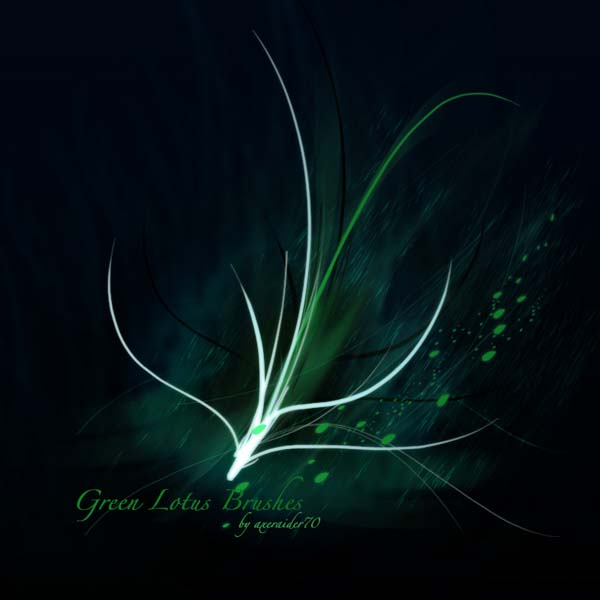 GIMP Green Lotus Brushes by Project GimpBC 1500+ Free GIMP Brushes Packs for Download