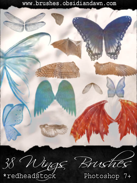 GIMP Wings Brushes by Project GimpBC 1500+ Free GIMP Brushes Packs for Download