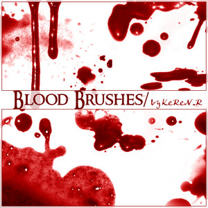 Blood Brushes by KeRen R by Project GimpBC 1500+ Free GIMP Brushes Packs for Download