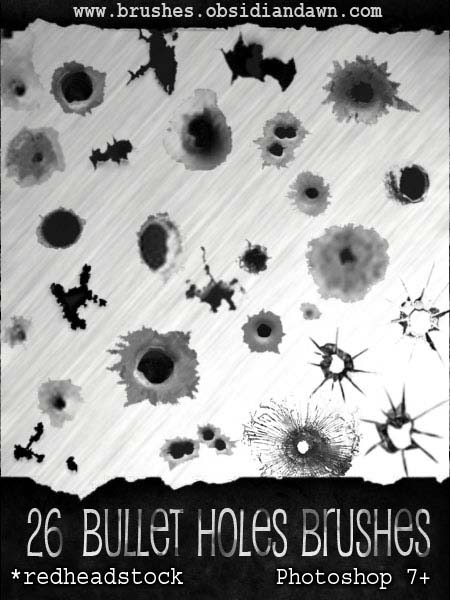GIMP Bullet Holes Brushes by Project GimpBC 1500+ Free GIMP Brushes Packs for Download