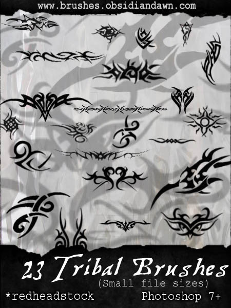 GIMP Tribal Small Brushes by Project GimpBC 1500+ Free GIMP Brushes Packs for Download