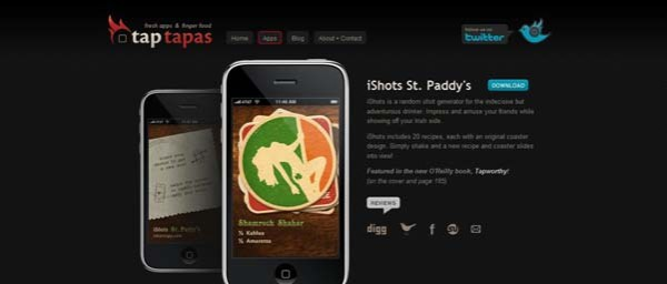 iShots+%25C2%25AB+Tap+Tapas Best Examples of iPhone Apps Websites Designs