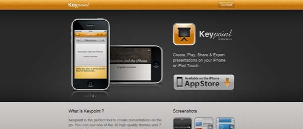 Keypoint Best Examples of iPhone Apps Websites Designs