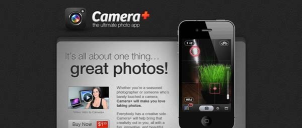 Camera Best Examples of iPhone Apps Websites Designs
