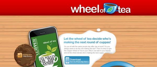 Wheel+of+Tea Best Examples of iPhone Apps Websites Designs