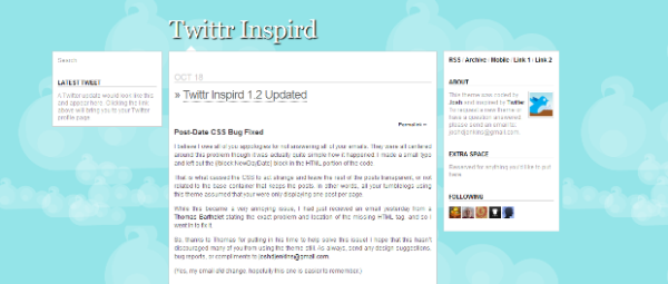 Twittr+Inspird The Best Free Tumblr Themes