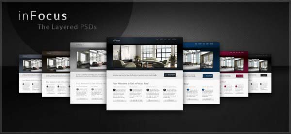 inFocus+Wordpress+Theme 80+ Free Editable PSD Website Templates