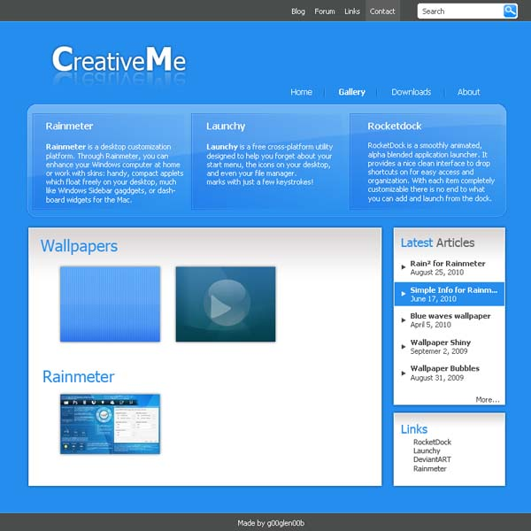 creativeme webdesign by g00glen00b d2y2mlu 80+ Free Editable PSD Website Templates