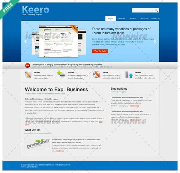 Website+Template%2528Keero%2529 80+ Free Editable PSD Website Templates
