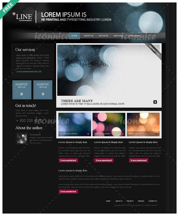 Website+Template%2528Line%2529 80+ Free Editable PSD Website Templates