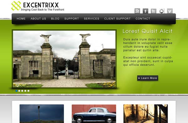 Excentrixx+Free+PSD+WordPress+Template 80+ Free Editable PSD Website Templates