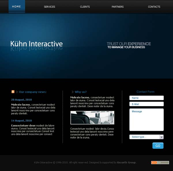 Kuhn Free PSD by majareq 80+ Free Editable PSD Website Templates