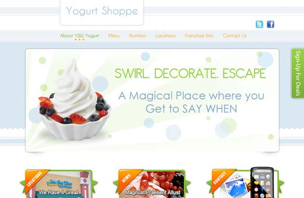Yogurt+Shoppe+Free+PSD+Website+Template 80+ Free Editable PSD Website Templates