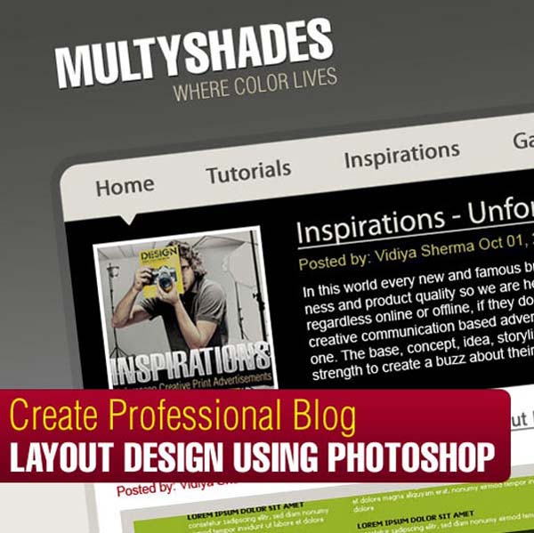 Create+Professional+Blog+Layout+Design+Using+Photoshop 80+ Free Editable PSD Website Templates