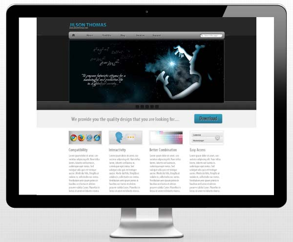 Create+Clean+Business+Web+Layout+in+Adobe+Photoshop 80+ Free Editable PSD Website Templates
