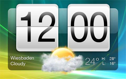 HTC Sense Clock by Livven Roundup of Best Free Smart Phones GUI PSD Packs