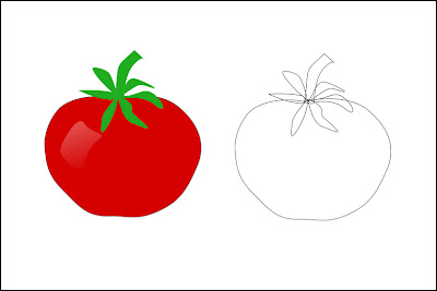 tomato line drawing thumb border jpgTomato Line Drawing