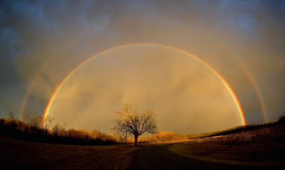beautiful rainbow, rainbow landscape, double rainbow