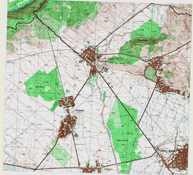 Harta topografica a zonei Rogova