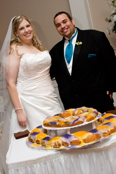 King Cake Groom 39s Cake how perfect for a New Orleans themed Wedding