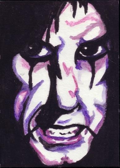 Whoopidooings - Carmen Wing - Alice Cooper in Lyra Aqua Colour Crayons